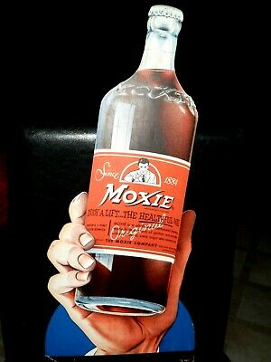 Vintage RARE LARGE EASEL BACK 1930'S-40'S  MOXIE COLA STORE DISPLAY SIGN~NICE!~
