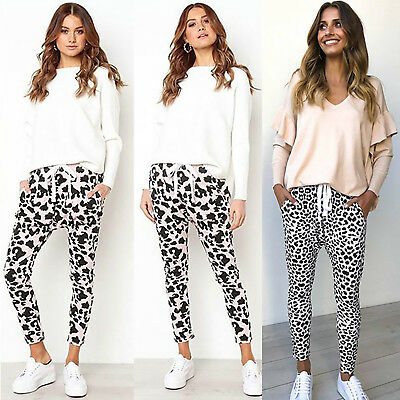 ph12 Celebrity Style Casual Loose Fit Leopard Print Harem Pants Trousers RRP $30