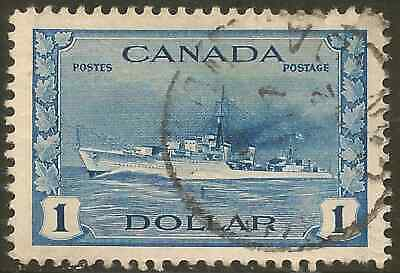 Canada 262 Used $1.00 Tribal Class Destroyer, Royal Canadian Navy -Cat $7.50