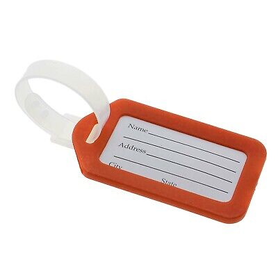 10x Luggage Tags Labels Strap Name Address ID Suitcase Bag Baggage Travel