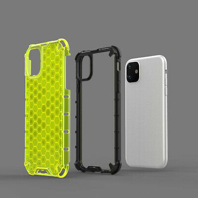 Fluorescent AirBag 2 in 1 Armor Clear Case For iPhone 11 Pro Max XS R 8 7 6 Plus