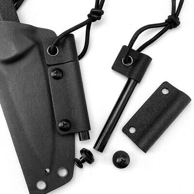 Tactical K Sheath Knife Scabbard Waist Back Clamp Belt Clip for Kydex Holster