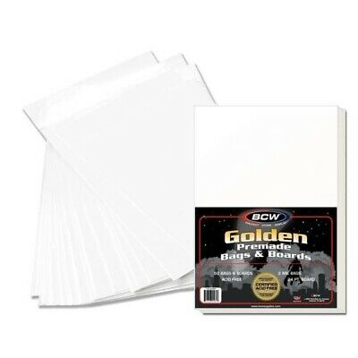 50 BCW Premade Golden Comic BAG AND BOARD – PHANTOM SIZE better than Ultra Pro