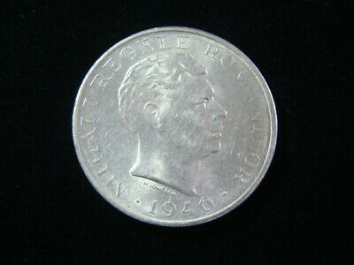 Romania 1946 Silver 100,000 Lei About Uncirculated KM#71 Nice!!