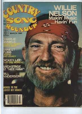 Country Song Roundup March 1980 Willie Nelson Charlie Daniels Ernest Tubb MBX59