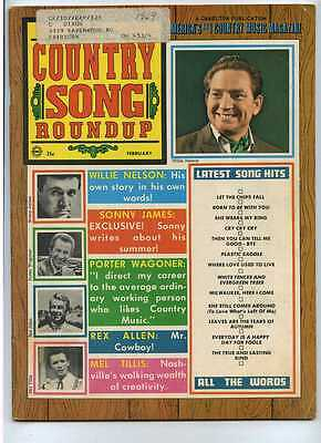 Country Song Roundup Feb 1969 Willie Nelson Sonny James Mel Tillis MBX59