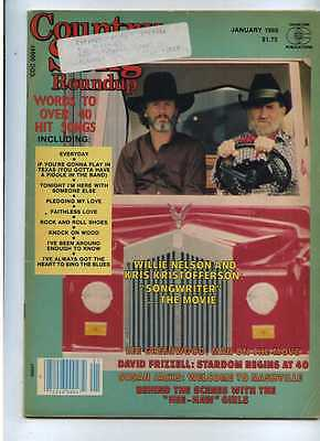 Country Song Roundup Jan 185 Willie Nelson Kris Kristofferson MBX59