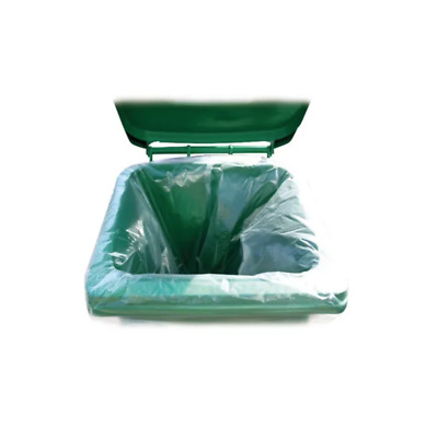 Pack Of 100 2Work Clear Wheelie Bin Liner New + Free Next Working Day Delivery