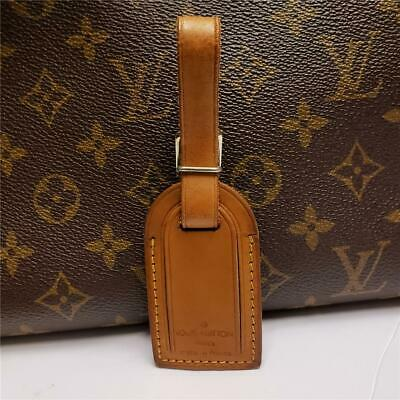 Auth LOUIS VUITTON Leather ID Name Tag for Handbag, Luggage Reg/Small Size [119