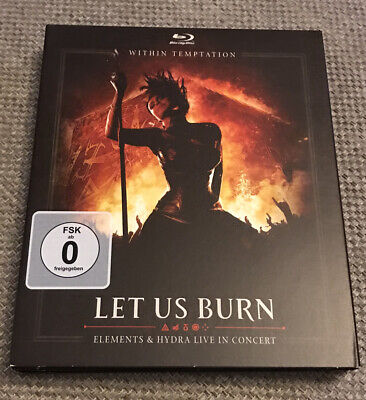 WITHIN TEMPTATION Blu Ray + 2CD LET US BURN Elements&Hydra Live in concert