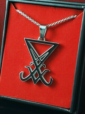 316L Stainless Steel Church of Satan BAPHOMET Pendant Necklace