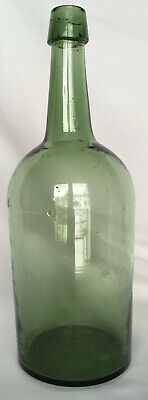 Emerald Green applied lip Demijohn bottle carboy Excellent condition, Nice color