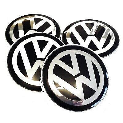 Set of 4 Golf Jetta Lupo Polo Passat Sticker Badges to fit 65mm Domed Center Cap