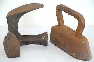 Vintage Cobblers shoe anvil and vintage Iron job lot