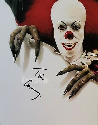 "RP Tim Curry Pennywise The Dancing Clown Awesome 8 x 10/"" Autographed Photo"