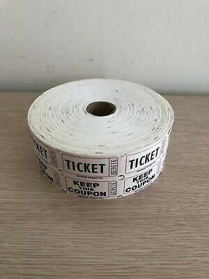 2 Rolls-Raffle Tickets 50/50, 2 Part Perforated Tickets, 2000 Tickets Roll, New