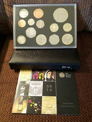 2010 UK Great Britain Deluxe Proof 13 Coin Set Royal Mint COA NICE LOW MINTAGE