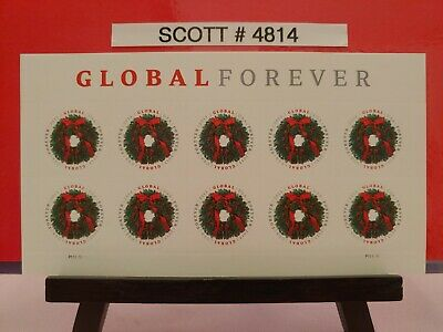 Scott # 4814-Global Forever Wreath - Pane of (10) $1.10 Stamps