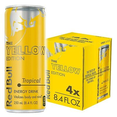 Red Bull Energy Drink, The Yellow Edition 4 Cans of 48 fl oz