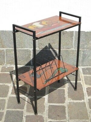 Vintage Cabinet Modernist Design Years' 50 Small Table a 2 Tier Painted