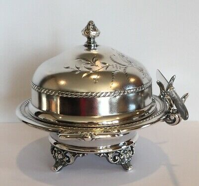 Antique Butter Dish Pairpoint Mfg Co Quadruple Plate Bedford Mass
