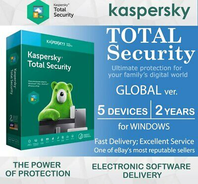Kaspersky Total Security 2020 5 Devices (PC) 2 Years for Windows GLOBAL Region