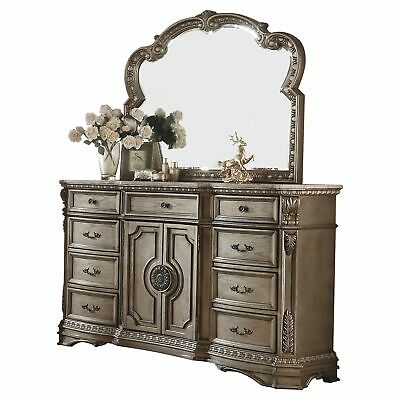 ACME Northville Dresser w/Marble Top, Antique Champagne N/A 9-drawer