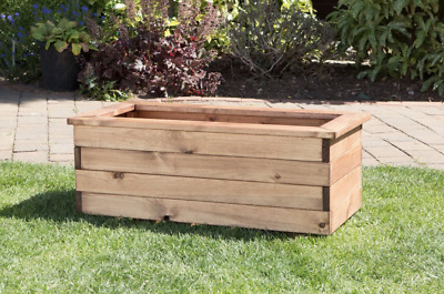 High Quality Trough Rectangle Wooden Garden Planter Extra Large HALF PRICE SALE