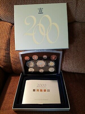 2000 UK Great Britain Proof 10 Coin Set Royal Mint COA - Excellent Condition