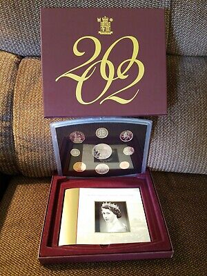 2002 UK Great Britain Proof 9 Coin Set Royal Mint COA  - Excellent Condition