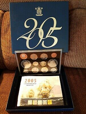 2005 UK Great Britain Proof 12 Coin Set Royal Mint COA - Excellent Condition
