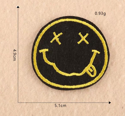Patch Ecusson Brode Nirvana Smiley Thermocollant