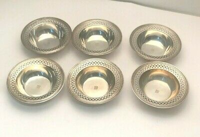 """Tiffany & Company Sterling Silver set of 6 individual Nut or Candy Dishes 3.25"""""""