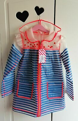 Billieblush Girls Designer Raincoat Age 6 Years Stripey Spotty