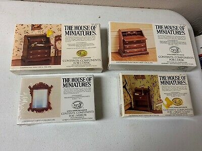 4 Lot House Of Miniatures Dollhouse Furniture Chippendale42403,40012,40017,40042