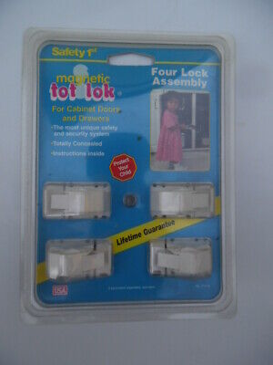 Safety 1st Magnetic Tot-Lok Four Lock Assembly - NEW