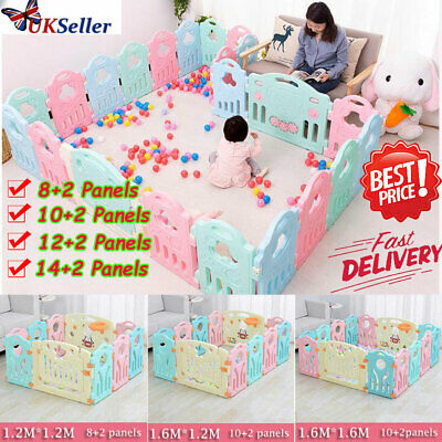 Large Extendable Baby Playpen Panel Foldable Kids Indoor Outdoor Fence Play Pen