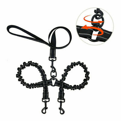 6FT Double Dual Dog Lead No Tangle Dog Leash with Padded Handle for Two Dogs