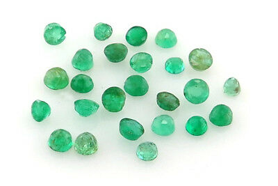 Loose Emeralds Faceted Round 1.0mm - 3.0mm mainly Brazilian -Approx 10 pcs - LT7