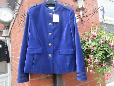 Boden LADIES GORGEOUS ROSHANNAH BLUE JACKET MILITARY T0091 BRAND NEW