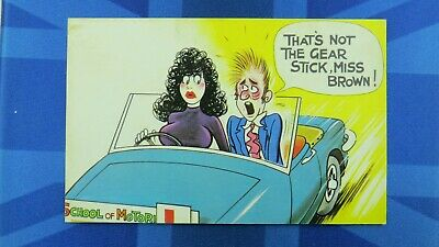 Bamforth Comic Postcard 1970s Learner Driver Driving Instructor Triumph Stag ?