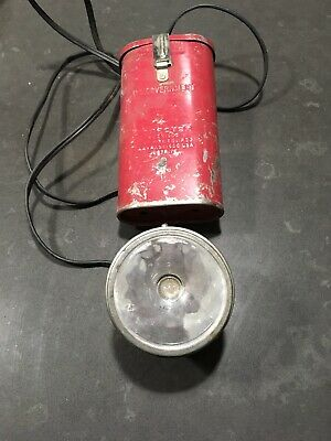 Easter Seal Firefighter Headlamp with Adjustable Headstrap  /& Spare Bulb Vintage