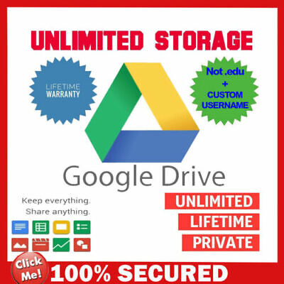 Unlimited Google Drive Lifetime Cloud Storage Custom Account - 100% Guaranteed