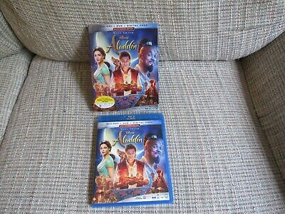 Aladdin (Blu-ray + DVD, 2019, 2-Disc Set) Disney Live Action Will Smith Like New