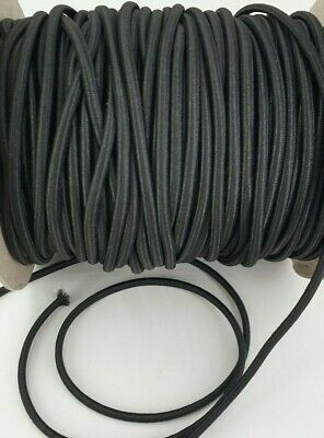 3mm Black Round Shock Cord Elastic Colour Craft Ear Loops