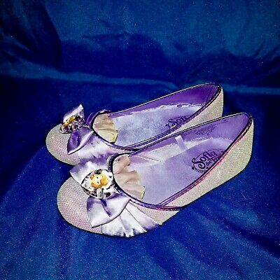 NEW Disney Store Princess Sofia the First Girls Costume Dress Up Slip On Shoes