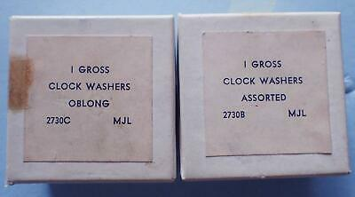 2 Boxes Vintage Brass Clock Hand Washers Assorted Sizes & Styles- The Good Ones!