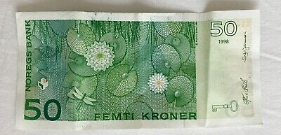 Norway 50 Kroner Real currency note 1998 uncirculated