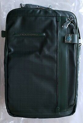 Piquadro Computer Portfolio Briefcase with Shoulder Pads,Green
