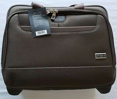 Ricardo Beverly Hills Luggage Rolling Briefcase,Brown